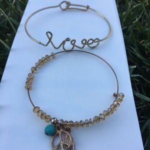 PRICE DROP ♥️☯️Peace love bracelet bundle